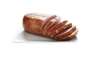 Prepare sliced ham as part of a delicious meal.