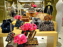 Handbags on display at Saks Fifth Avenue.