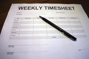 Pen and time sheet.