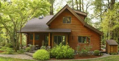 Log siding made from real wood replicates the log-home look at less cost.