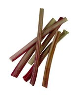 Rhubarb stalks are edible but the rest of the plant is toxic.