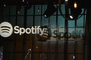 Spotify streaming music service.