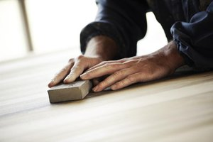 Use a sanding block for extra-smooth tabletops and flat surfaces.