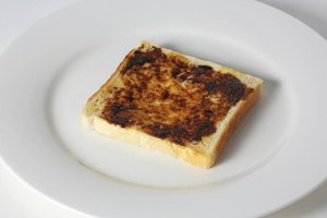 Toast with marmite on top.