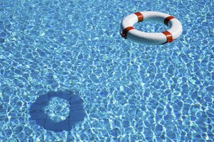Lifesaver floating in pool.