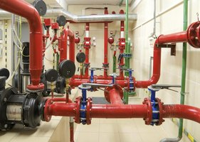 Indoor fire sprinkler system
