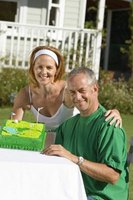 Decorate a man's birthday cake to represent his favorite pastime or hobby, such as golf.