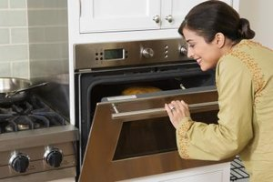 Wall ovens take up less space than free-standing appliances.