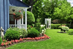 Planting shrubs and flowers along your house can help with the curb appeal of your home.