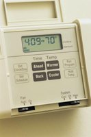 An HVAC system is controlled through a central thermostat control box.