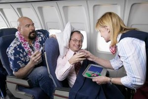 Flight attendants sometimes mediate conflicts between passengers.