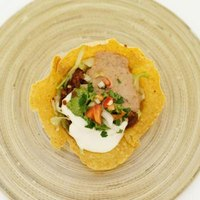 Crema fresca is a traditional topping for tacos or taco salad.