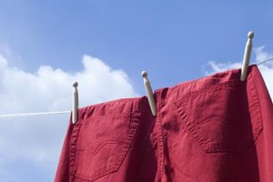 Hang your clothes to dry outside in the breeze to help lift wrinkles.