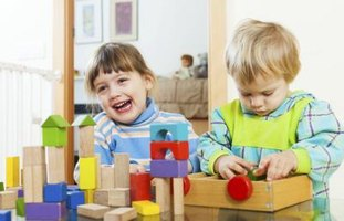 Sorting by shape or color can help toddlers learn.