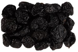 Prunes are dried fruits of the plum family.