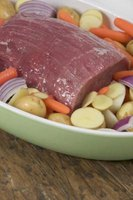 Lean, muscular beef bottom round makes a delicious braised pot roast.