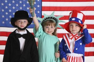 Parents can find preschools that offer special events such as performing in a play about Independence Day.