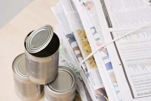 Tin cans are worth saving to make useful and decorative items for home and yard.