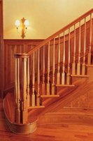 Stair rails can become loose over time from normal use.