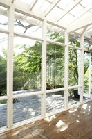 This is one style of sunroom window framing.