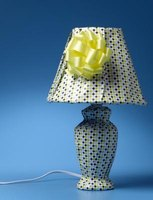 Make your own lampshade from a plain white lampshade.