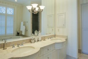 How To Replace Bathroom Vanity Lights Going From One Light To Two Lights Ehow