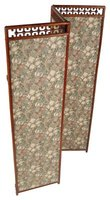 Decorative folding screens are often used to divide rooms in two.