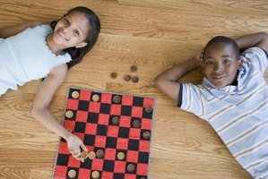 Many games can be played with checkers and a checkerboard.