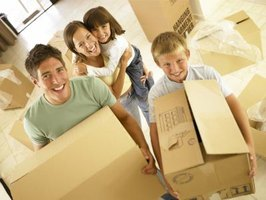 Including children in some of the moving work and decorating decisions helps them adjust to a new home.