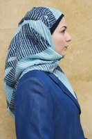 Modern hijab styles use nontraditional fabrics, such as denim.