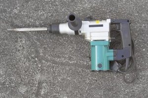 Hammer drills pound while drilling to penetrate concrete.