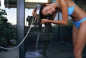 Hand-held showers are prone to leak.