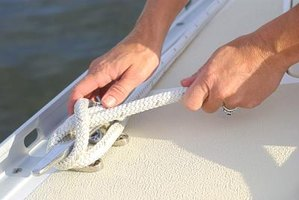 A cleat hitch is used to secure your pontoon boat to a dock.
