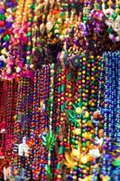 Incorporate beads for an iconic Mardi Gras style.