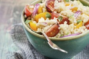 Enjoy high-fiber, gluten-free grains such as quinoa.