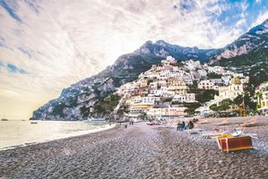 Positano beaches hug the Amalfi Coast.