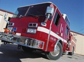 Fire trucks come equipped with parts essential for fighting fires.