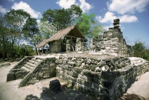 The San Gervasio ruins are on the northern section of Cozumel.