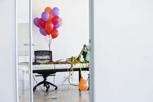 Rooms become more festive with streamers and balloons.