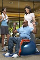 Sit on a ball instead of a weight bench during strength training.