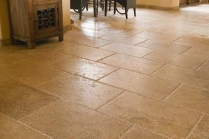 Antiqued limestone tiles may show less wear over time than a polished tile.