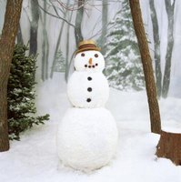 Make a snowman out of a tube sock.