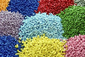 Colorful polymer piles.