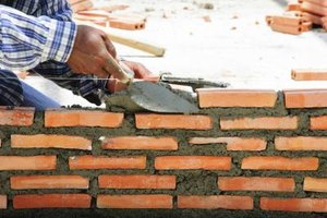 Laying brick requires careful attention to detail.