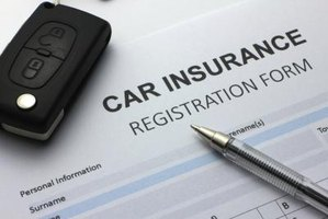 A car insurance registration form.