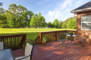 Semi-transperent stains keep your deck looking its best.