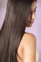Silky, stick-straight hair can be obtained by a perm.