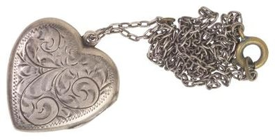 Lockets can be engraved with a variety of designs or words.