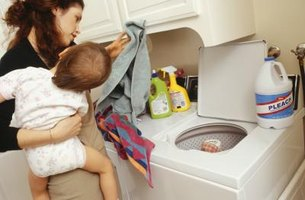 Add hydrogen peroxide or vinegar to the laundry to kill germs.