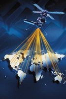 The global positioning system uses satellites to calculate your position.
